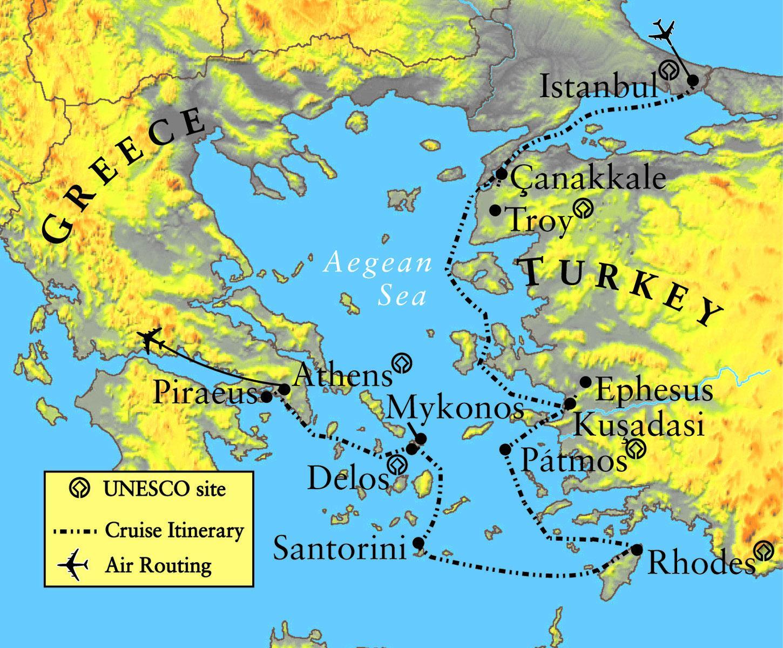Graikija Ir Troy Zemėlapis Zemėlapis Troja Ir Graikija Pietų